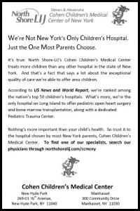 COHEN CHILDREN'S MEDICAL CENTER, MANHASSET